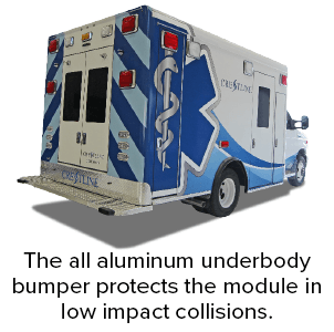 The all aluminum underbody bumper protects the module in low impact collisions.
